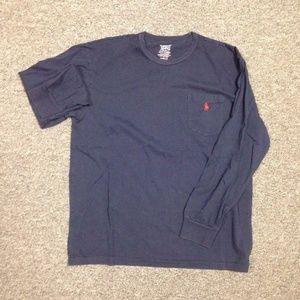 Ralph Lauren Polo LS shirt - navy medium